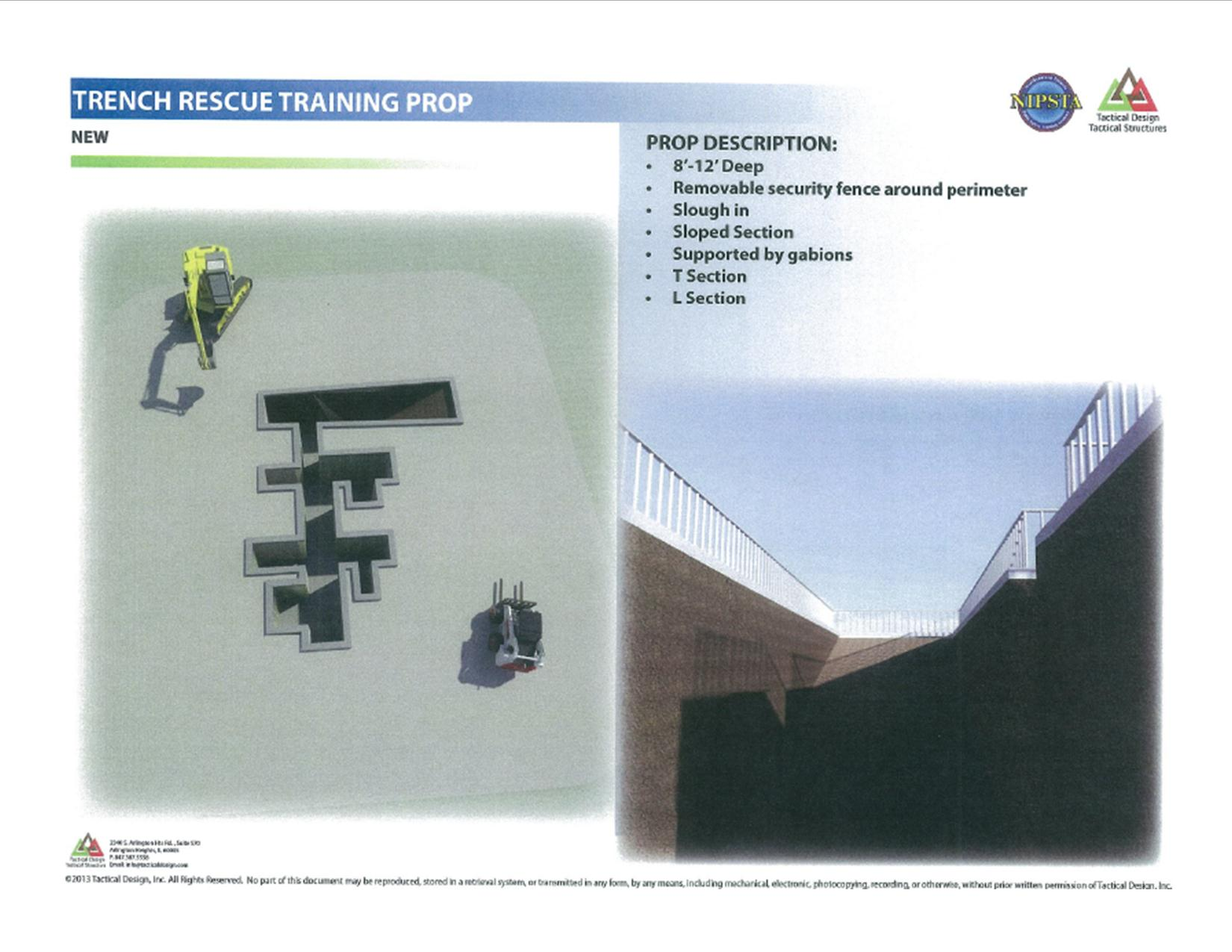 Trench Rescue Training Prop With Detailed Text