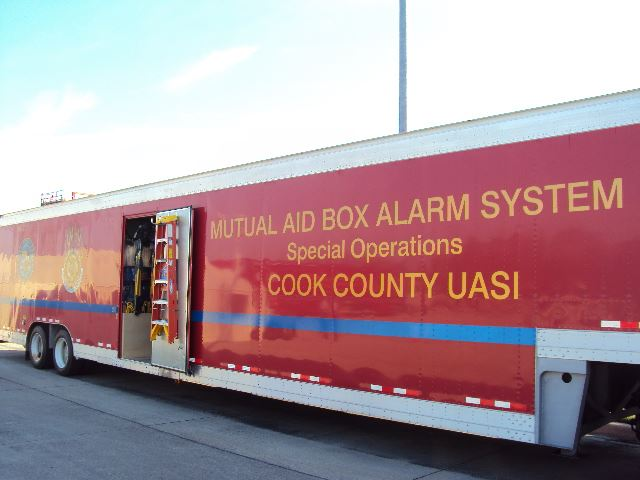 Mutual aid box alarm system special operations vehicle