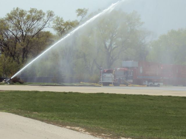 Fire hose spraying