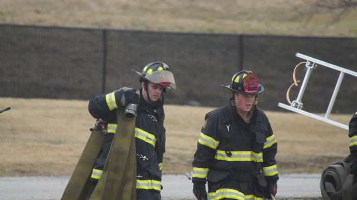 Firefighters in turn out gear
