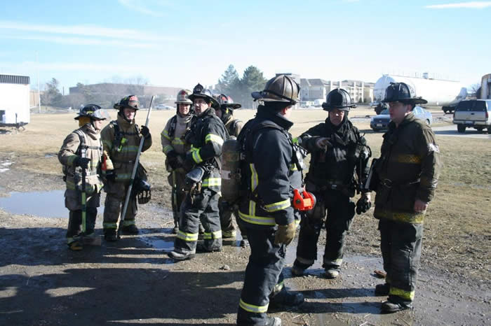 FIrefighters in training