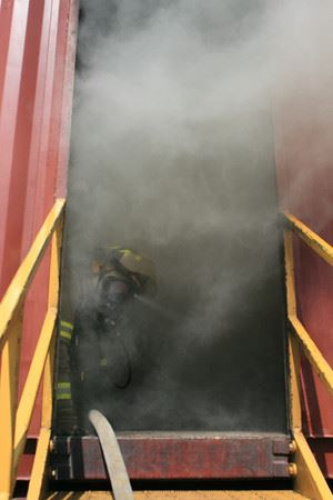 Smoke in doorway